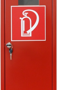 Пожарни кутии за пожарогасители - метални